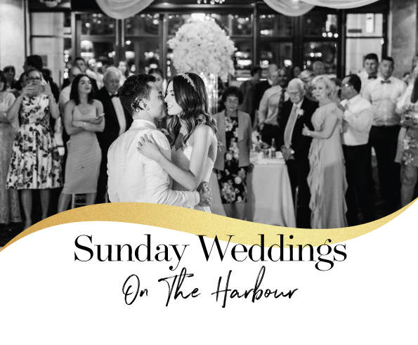 Sunday Weddings on The Harbour $95pp