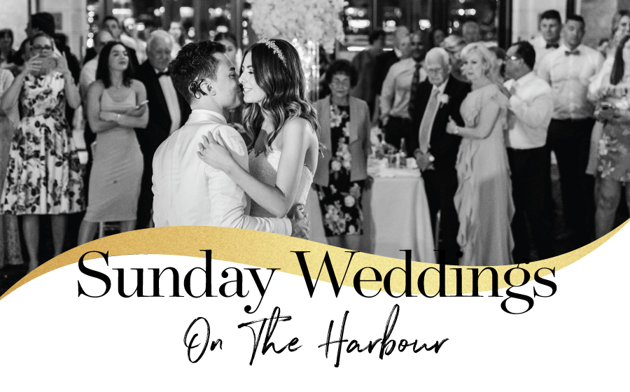 Sunday Weddings on The Harbour from $95pp