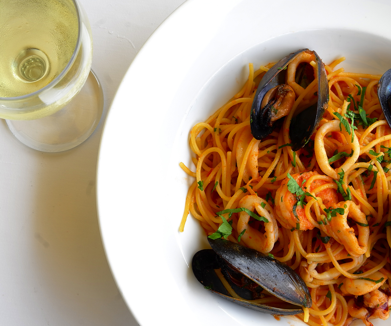 Waterfront All Day Pasta- Monday $22.50